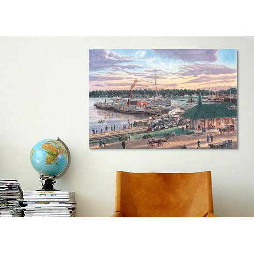 iCanvas 'Harbor Springs Mich' by Stanton Manolakas Painting Print on Canvas