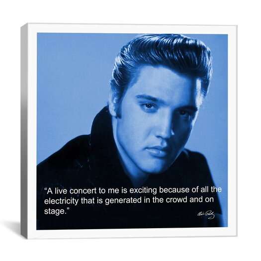 iCanvas Elvis Presley Quote Canvas Wall Art