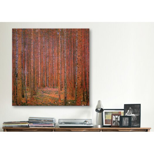 iCanvas 'Fir Forest I' by Gustav Klimt Painting Print on Canvas