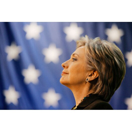 iCanvasArt Political Hillary Clinton Portrait Photographic Print on Canvas