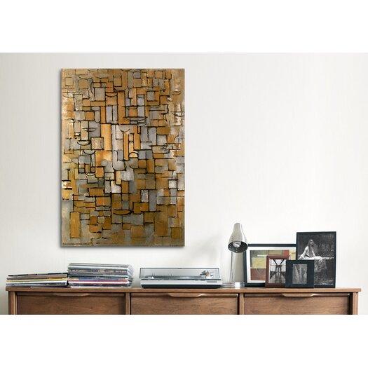iCanvas 'Composition 14, 1913' by Piet Mondrian Canvas Art