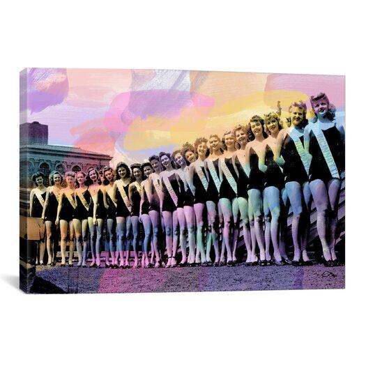 iCanvas Miss America Competition 1943 Lineup Memorabilia Canvas