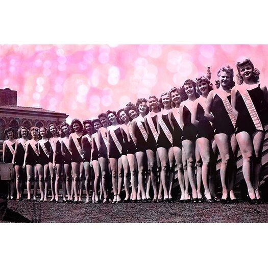 iCanvas Miss America Competition 1943 Lineup Memorabilia on Canvas
