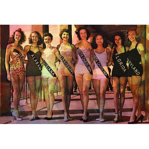 iCanvas Miss America Competition 1953 Swimsuits Memorabilia on Canvas