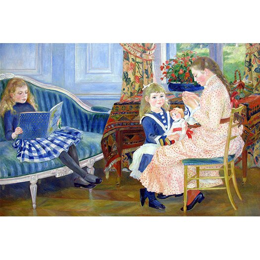 iCanvas 'Der Nachmittag der Kinder in Wargemont' by Pierre-Auguste Renoir Painting Print on Canvas