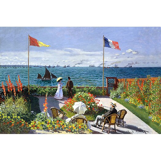iCanvas 'Garden at Sainte Adresse' by Edouard Manet Painting Print on Canvas