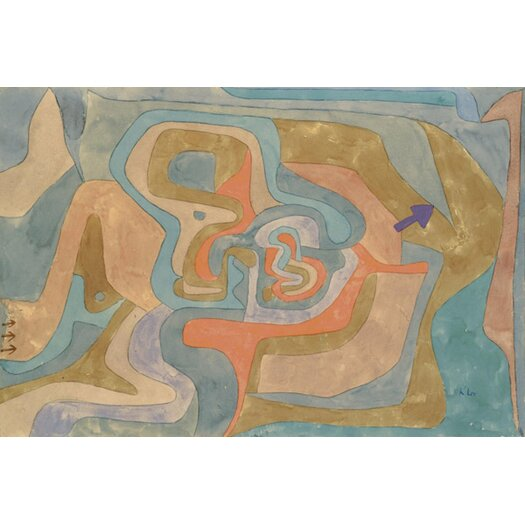 iCanvas 'Flying Away 1934' by Paul Klee Painting Print on Canvas