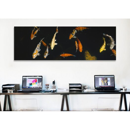 iCanvas Panoramic Japanese Koi Fish in the Capitol Aquarium, Sacramento, California Photographic Print on Canvas
