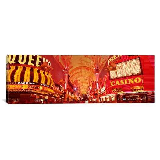 iCanvas Panoramic Fremont St. Experience, Las Vegas, Nevada Photographic Print on Canvas