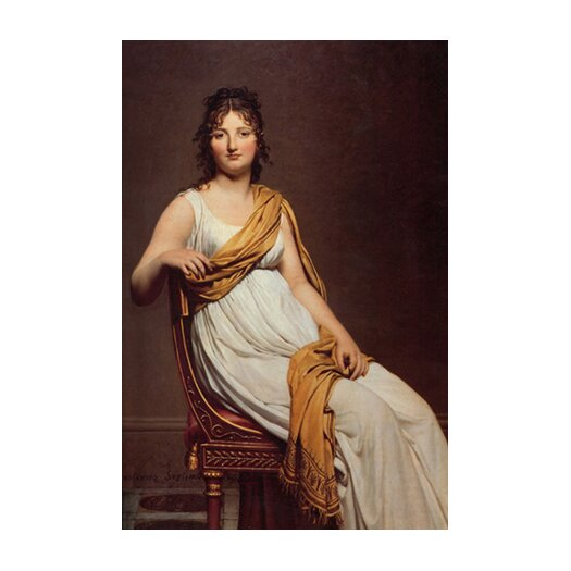 iCanvas 'Madame Raymond De Verninac' by Jacques-Louis David Painting Print on Canvas
