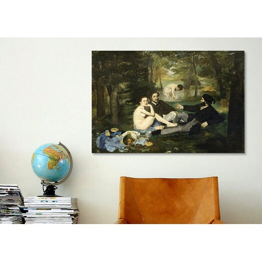 iCanvasArt 'Luncheon on the Grass' by Edouard Manet Painting Print on Canvas