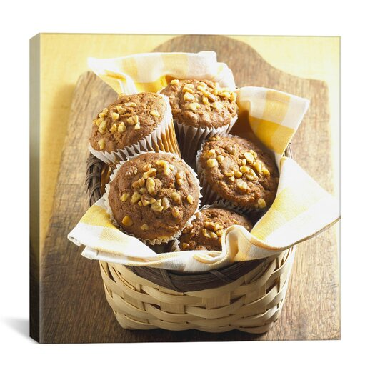 iCanvas Muffin Basket Photographic Canvas Wall Art