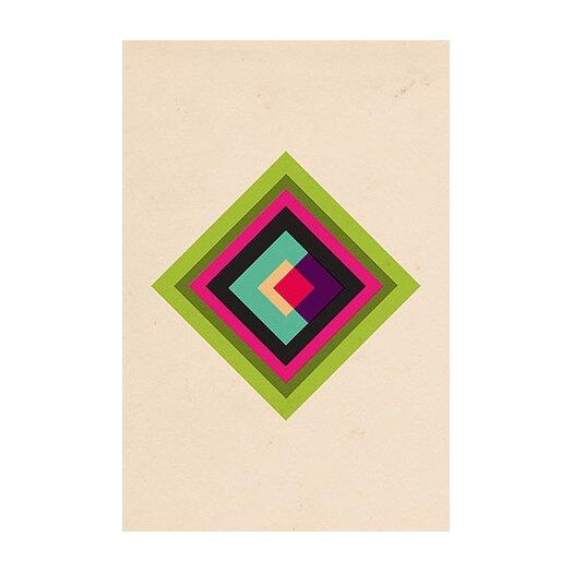 iCanvasArt Modern Art Mid Century Modern Diamond Color Composition (after Kandinsky) Graphic Art on Canvas