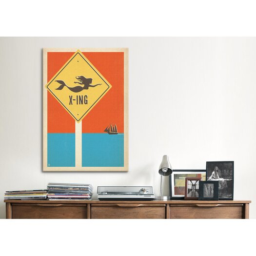 iCanvas 'Mermaid Crossing' by Anderson Design Group Vintage Advertisment on Canvas