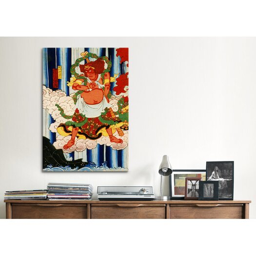 iCanvas Japanese Man with Kanabo Woodblock Graphic Art on Canvas