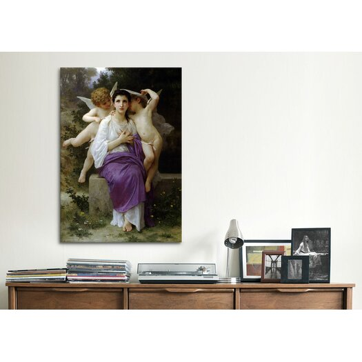 iCanvas 'Leveil Heart' by William-Adolphe Bouguereau Painting Print on Canvas