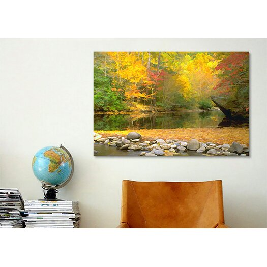 iCanvas 'Little River' by J.D. McFarlan Painting Print on Canvas