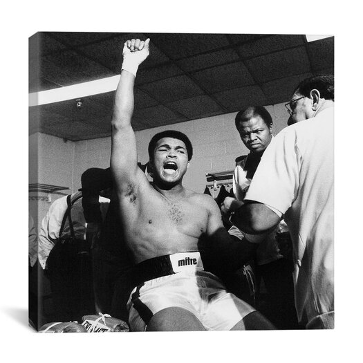 "iCanvas ""Psyching Up in The Locker Room before The Shavers Fight, 1977"" Canvas Wall Art by Michael Gaffney"