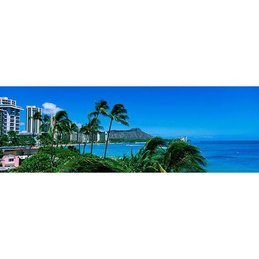 iCanvasArt Panoramic Waikiki Beach, Oahu, Hawaii Photographic Print on Canvas
