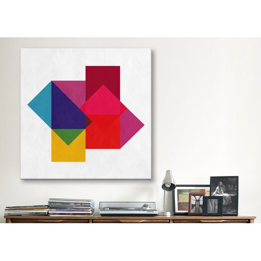 iCanvasArt Modern Art Study of Colors Graphic Art on Canvas