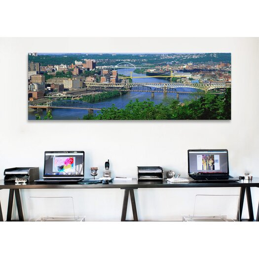 iCanvas Panoramic 'Monongahela River, Pittsburgh, Pennsylvania' Photographic Print on Canvas