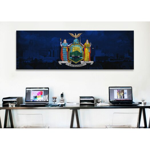iCanvas Flags New York Skyline Graphic Art on Canvas