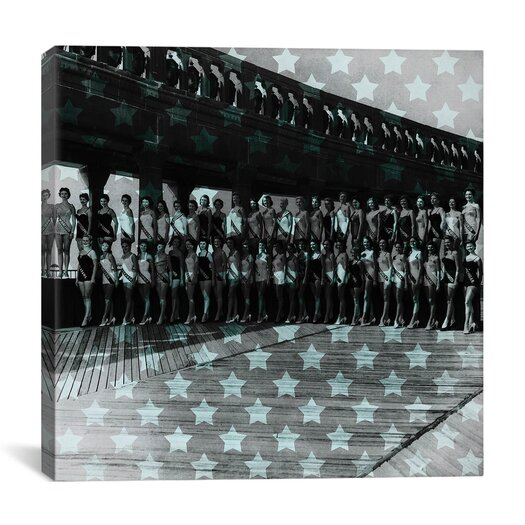 iCanvas Miss America 1956 Stars Graphic Art on Canvas in Blue