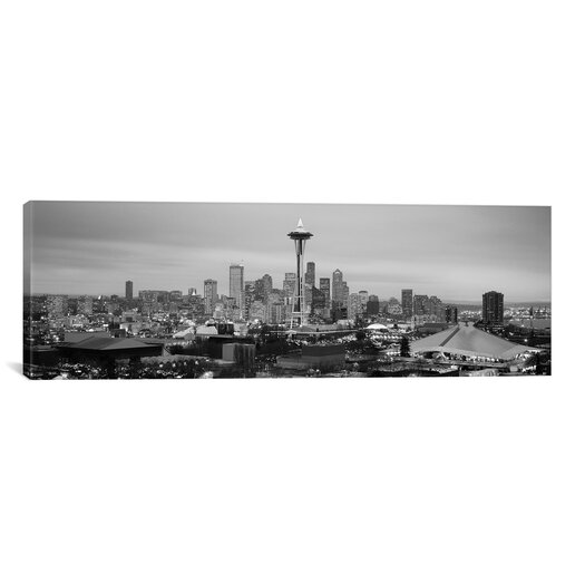 iCanvas Seattle Panoramic Skyline Cityscape Photographic Print on Canvas