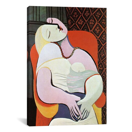 iCanvasArt 'The Dream' by Pablo Picasso Painting Print on Canvas