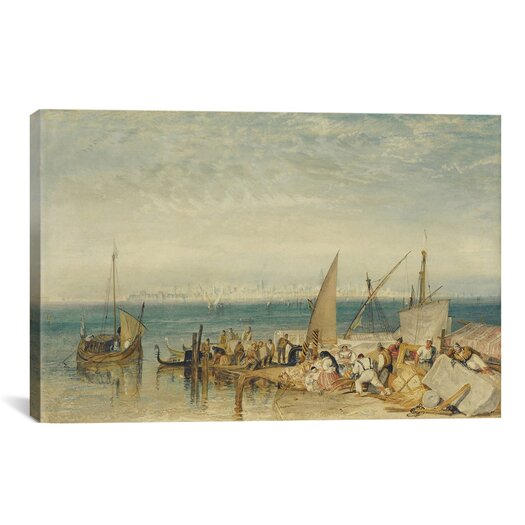 iCanvas 'Venice from Fusina' by Jospeh William Turner Painting Print on Canvas
