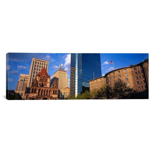 iCanvas Panoramic Massachusetts, Boston, Copley Square Photographic Print on Canvas