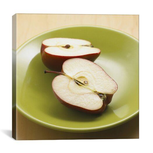 iCanvasArt Sliced Apples Photographic Canvas Wall Art
