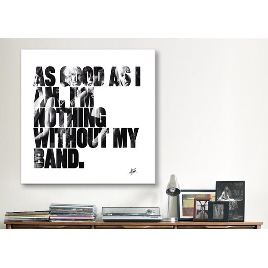 iCanvas Steven Tyler Quote Canvas Wall Art