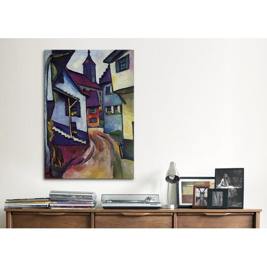 iCanvas 'Street with Church with Kandern' by August Macke Painting Print on Canvas
