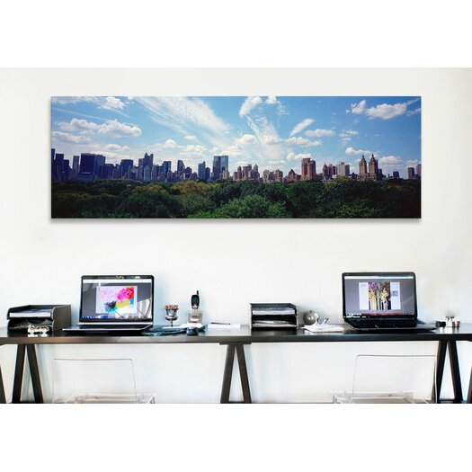 iCanvas Panoramic Skyscrapers in a City, Manhattan, NYC, New York City, New York State Photographic Print on Canvas