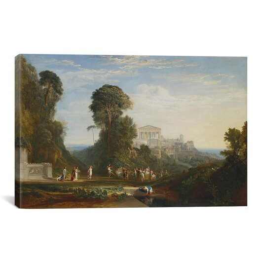 iCanvas 'The Temple of Jupiter Panellenius Restored' by Joseph William Turner Painting Print on Canvas