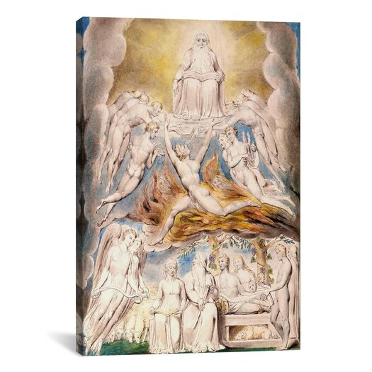 iCanvas 'Satan before the Throne of God' by William Blake Painting Print on Canvas