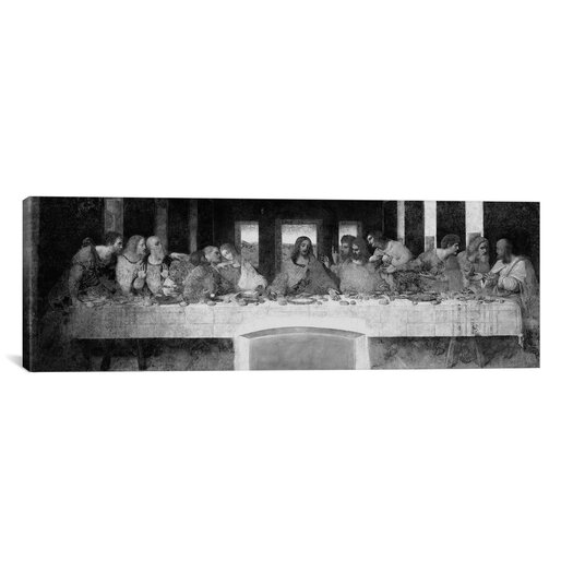 iCanvasArt 'The Last Supper II' by Leonardo Da Vinci Painting Print on Canvas