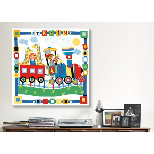 "iCanvasArt ""Train II"" Canvas Wall Art by Cheryl Piperberg"