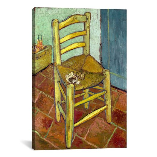 iCanvas 'Vincent's Chair with His Pipe' by Vincent Van Gogh Painting Print on Canvas