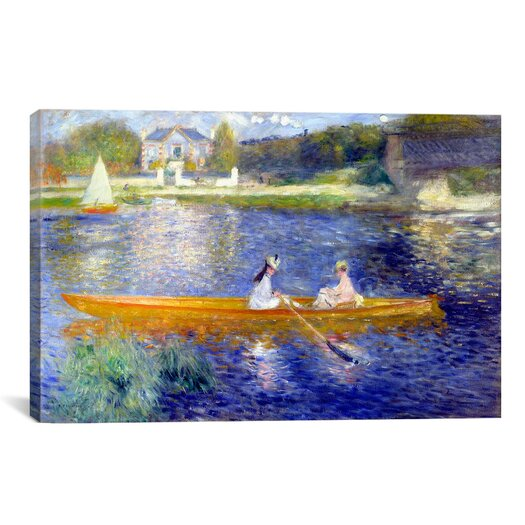 iCanvas 'The Seine at Asnieres' by Pierre-Auguste Renoir Painting Print on Canvas
