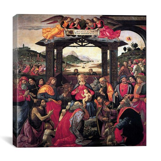 "iCanvasArt ""The Adoration of The Magi"" Canvas Wall Art by Domenico Ghirlanaio"