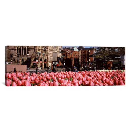 iCanvas Panoramic Copley Square, Boston, Suffolk County, Massachusetts Photographic Print on Canvas