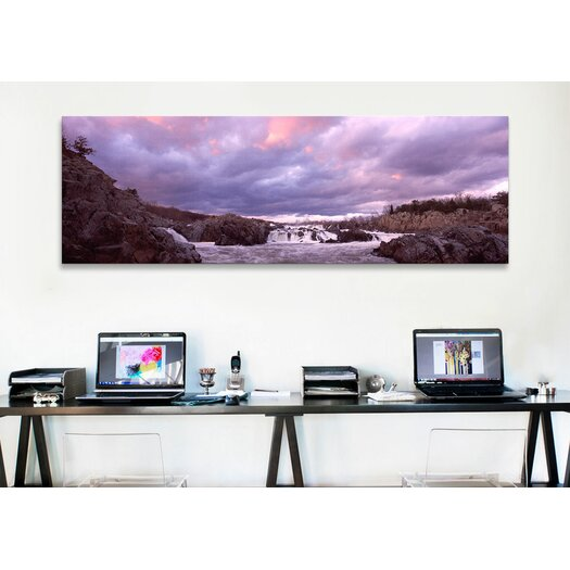 iCanvas Panoramic Great Falls National Park, Potomac River, Washington, D.C, Virginia Photographic Print on Canvas