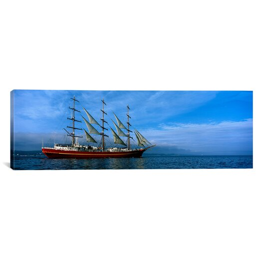 iCanvasArt Panoramic Tall Ships Race Photographic Print on Canvas