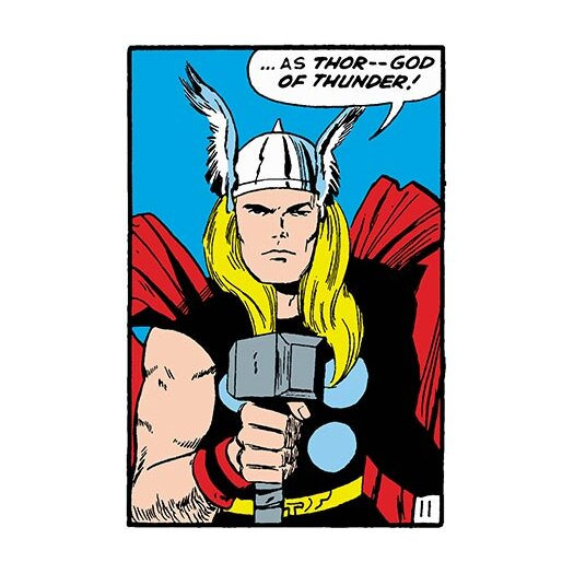 iCanvasArt Marvel Comics Thor Panel Art B Graphic Art on Canvas