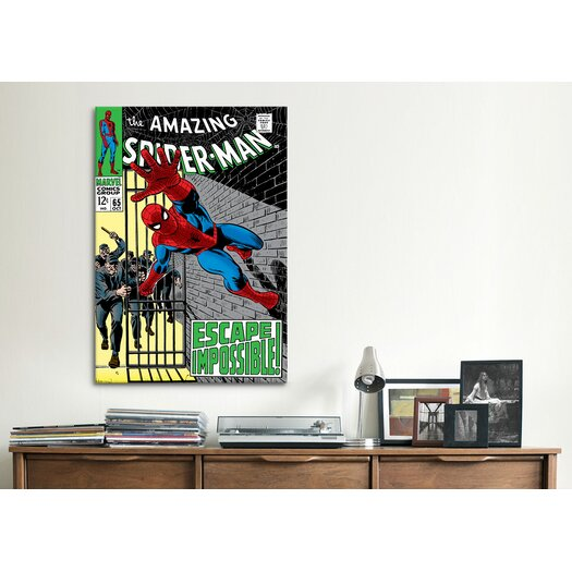 iCanvas Marvel Comics Book Spider-Man Issue Cover 65 Graphic Art on Canvas