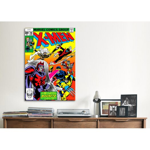 iCanvasArt Marvel Comics Book X-Men Cover Issue Cover #104 Graphic Art on Canvas