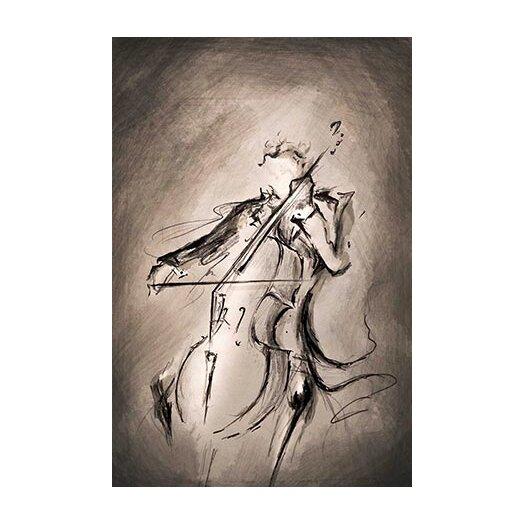 iCanvas 'The Cellist' by Marc Allante Graphic Art on Canvas