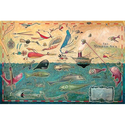 iCanvas 'Middle Sea' by Daniel Peacock Graphic Art on Canvas